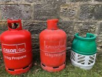 2 FULL Calor Gas 13kg Propane Bottles