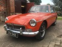 1972 MGB GT Blaze Orange, sunroof, overdrive, 80,000 miles