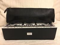 Osprey London black leather pouch gift