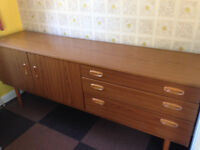 Retro side cabinet, teak effect, with drawers, very good condition