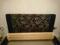 King size black bed frame