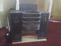 Antique Victoian Black cast iron open FIREPLACE