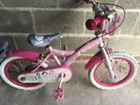 "Disney Princess girls bike 16"" 5+ years"