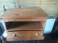 Victorian Pine TV Table/ Cabinet
