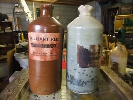 STONE INK BOTTLES 2 OF THEM BOTH IN GOOD CONDITION £5 FOR THE PAIR OF THEM