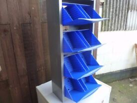 metal Storage Unit with Plastic Bays Delivery available £10