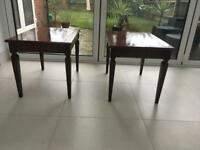 G plan mahogany tables