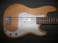 Fender Squier Precision P-Bass Guitar Style 4-String by Cheetah.
