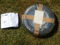 Erde 102 BRAND NEW and unused trailer spare wheel and tyre in postal bag. 3.50x8. Bought Nov17. £15