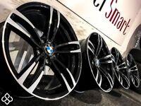 BRAND NEW BMW M4 STYLE ALLOY WHEELS - 5 X 120 - GLOSS BLACK WITH DIAMOND CUT FINISH - Wheel Smart
