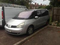 RENAULT GRAND ESPACE 2.2 DCI 05 PLATE AUTOMATIC 7 SEATER LONG MOT LOW MILES £550