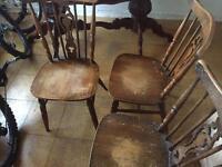 3 mahogany pub chairs