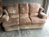 3 seater sofa and 2 x arm chairs