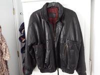Men's, leather biker jacket
