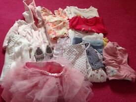 Girls clothes bundle 3-6 and 6-9 months
