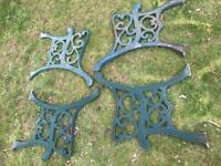 £20 each - Cast Iron bench / chair ends scroll design- 2 pairs very heavy