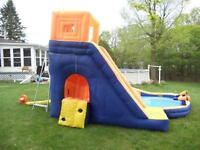 portable children's party party slide and pool rental daily