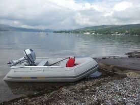 Dinghy for sale, 9ft Excel SD 290 model, no patches, with Honda 5hp Engine