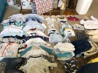 Huge bundle of boy newborn baby clothes