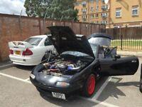 Mazda MX-5 1.6 turbo 202 bhp / 222 torque - race / drift ready classic / needs new home