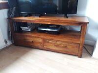 Sheesham solid wood tv unit
