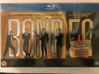 James Bond 50 Collection Blu-ray 22-Disc Set, Box Set. New and sealed