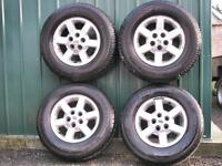 LAND ROVER DISCOVERY 2 Td5 V8 RANGE ROVER P38 ALLOY WHEELS WITH TYRES 255/65R16 ALLOYS