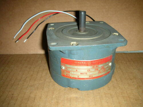 GENERAL ELECTRIC GE 5SMY51CE3 MOTOR 120VAC 75-RPM 50-OZ-IN. VGC!!