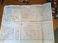 FALKLAND ISLANDS minefield map 1989 1st April, map for Darwin and Goose Green, Port Howard , Fox Bay