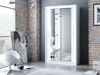 New Berlin 120cm wardrobe in black/white colour