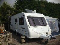 Elddis Avante Club 6 berth, single axle caravan & full size awning, fixed bunk beds, exc cond