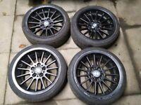 BMW style 32 5x120 17'' alloy wheels