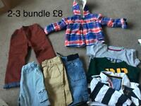 Boys clothes 2-3