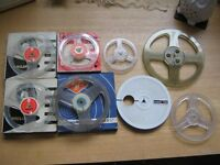 Mixed brands/sizes empty reel tape spools (£3.00 each)