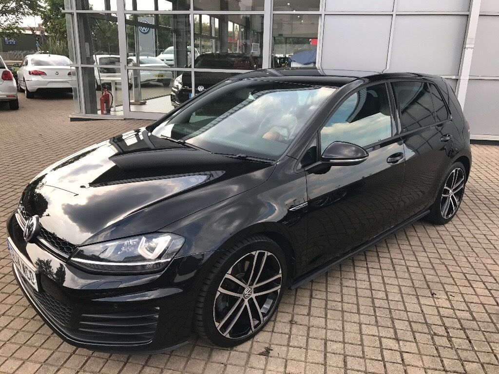 volkswagen golf 20 gtd 2014 black with black leather in