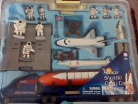 SPACE SHUTTLE PLAYSET WITH CARRY CASE.