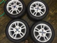 New ford alloy wheels 195/55/15 good year tyres
