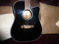 Takamine EG341SC Electro/Acoustic Guitar- Gloss Black