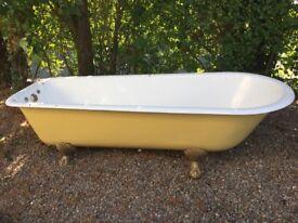 Cast Iron Bath with Claw Feet for Sale.