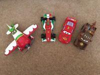 Cars/Planes toys Lightning McQueen, Mater, Francesco & El Chupacabra