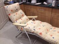 Reclining garden lounger in good condition. 4 positions of chair.