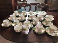 Antique Minton green cockatrice tea set