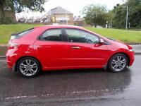 HONDA CIVIC 1.8 I-VTEC SI 5d 138 BHP (red) 2010
