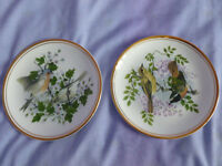 Royal Doulton Edwardian 'Birds of the Hedgerow' 6.5 inch Vintage Plates x 2