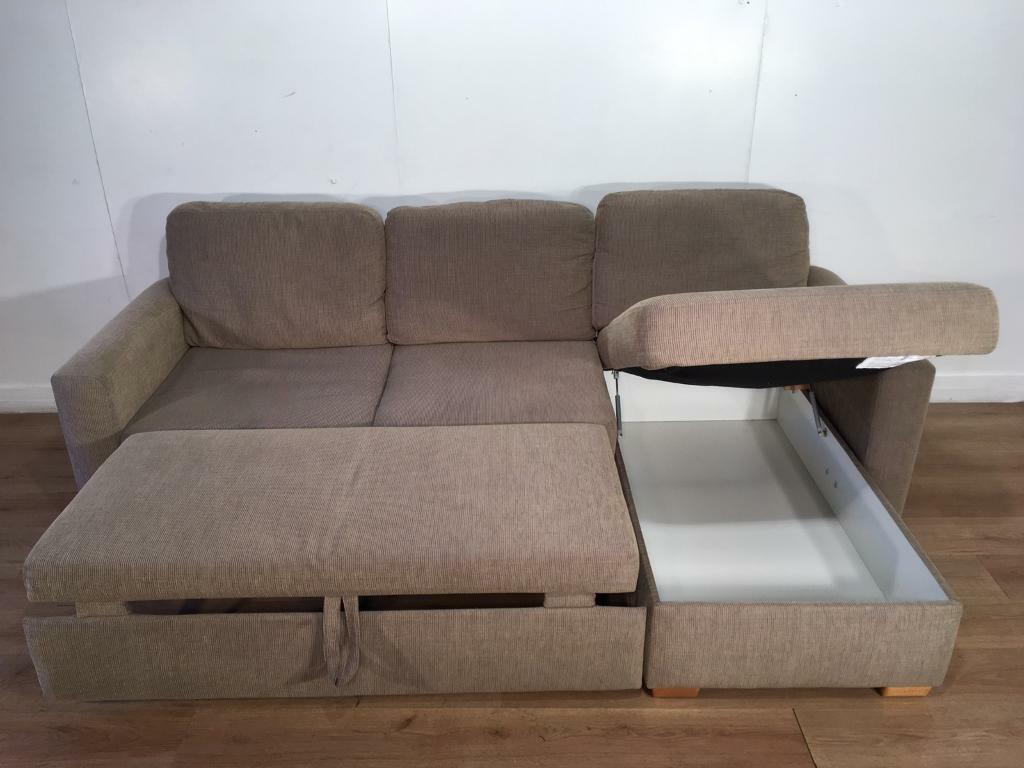 John Lewis Beige Corner Sofa Bed With Free Delivery Within