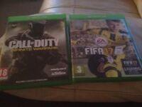 Xbox one Fifa 17 and cod infinite warfare