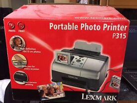 Lexmark portable photo printer - 8 packs photopaper, print cartridge, memory card.