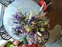 Large box of assorted dried flowers