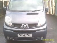 renault trafic lwb dci115 sat nav ,towbar and elec fitted