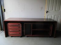 DANISH JENSEN FROKJAER 3 PIECE ROSEWOOD OFFICE SUITE DESK TABLE DRAWERS MEDIA UNIT FREE DELIVERY